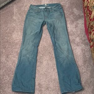 7 for all mankind light blue bootcut jeans
